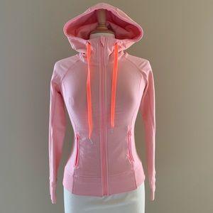 Lululemon Pink Hooded Jacket Cotton Size 6